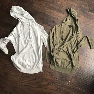 TWO soft light Banana Republic hoodie sweaters